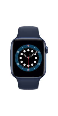 Apple Watch Series 6 44 mm blue deep navy sport front