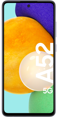 Samsung Galaxy A52 5G violet front