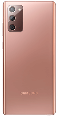Samsung Galaxy Note20 bronze back