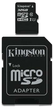 Kingston Hukommelseskort + Adapter, 32 GB
