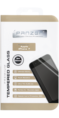 Panzer Temp. Glass til iPhone 6/6s & 7