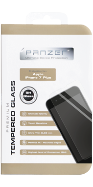 Panzer Temp. Glass til iPhone 6/6s Plus & 7 Plus