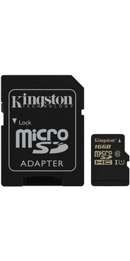 Kingston Hukommelseskort + Adapter, 16 GB