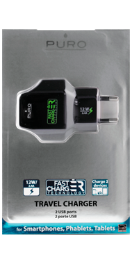 Puro Universal Fast Travel Charger 2.4A