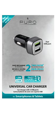 Puro Car Fast Charger USB
