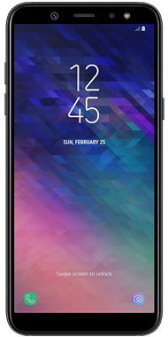 Samsung Galaxy A6 Sort front