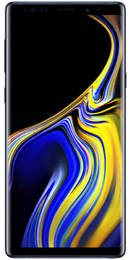 Samsung Galaxy Note9 front blue