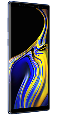 Samsung Galaxy Note9 vinkel blue