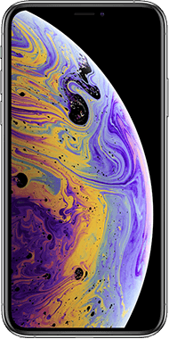 iPhone XS Silver front