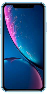 iPhone XR blue front