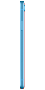 iPhone XR blue side