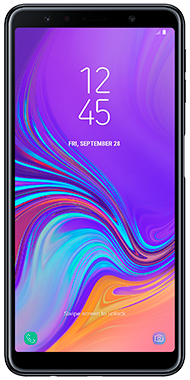 Samsung Galaxy A7 sort front