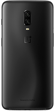 OnePlus 6T Midnight Black back