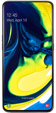Samsung Galaxy A80 sort front